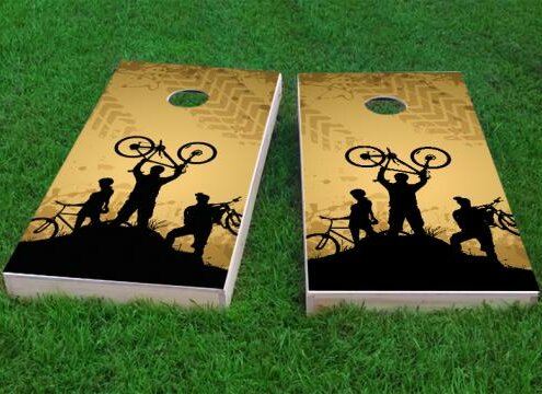 Mountain Biking Cornhole Game (Set of 2) by Custom Cornhole Boards
