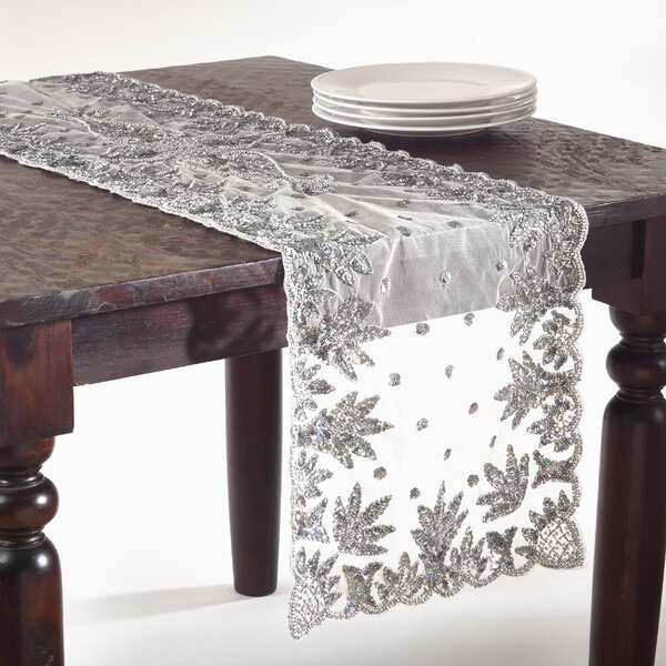 Hand Beaded Table Runner by Rosdorf Park