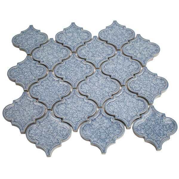 Roman Selection Glass Mosaic Tile in Iced Blue by Splashback Tile