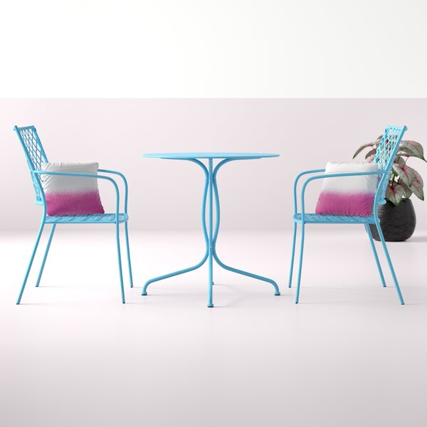 Walker 3 Piece Bistro Set with Cushions by Hashtag Home
