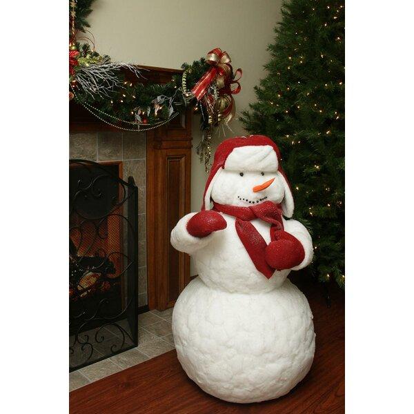 Fluffy Sparkling Plush Christmas Snowman Figure by Northlight Seasonal