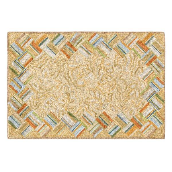 Basket Case Hand-Hooked Wool Carmel Area Rug by CompanyC