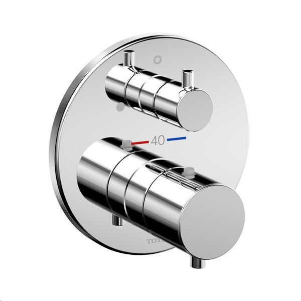 Round Thermostatic Mixing Valve with Volume Control Shower Trim by Toto
