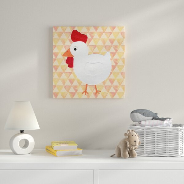White Hen Graphic Art on Wrapped Canvas by Zoomie Kids