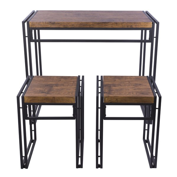 Debby Small Space 3 Piece Dining Set by Williston Forge