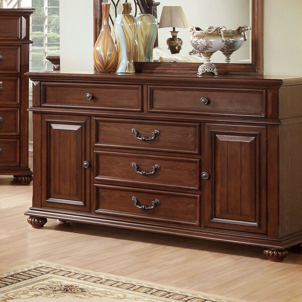 Lorrenzia 5 Drawer Combo Dresser by Hokku Designs Hokku Designs