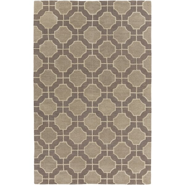 Dream Hand-Tufted Beige/Taupe Geometric Area Rug by Surya