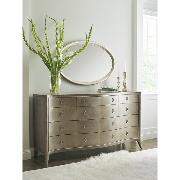 Avondale Ash 12 Drawer Dresser with Mirror by Caracole Compositions