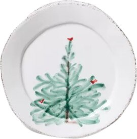 Lastra Holiday Canape 6.25 Bread and Butter Plate by VIETRI