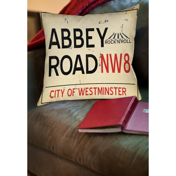 Abbey Road Printed Throw Pillow by Manual Woodworkers & Weavers