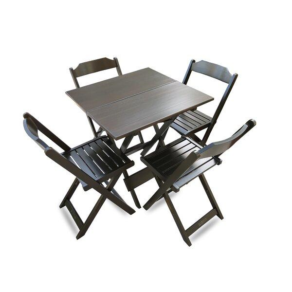 Chandley Folding Square 5 Piece Dining Set by Winston Porter