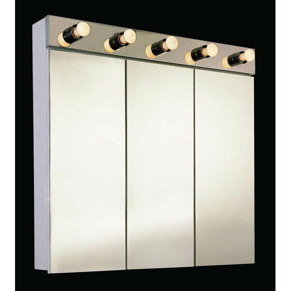 Kristofer 48 x 34 Surface Mount Frameless Medicine Cabinet and Lighting by Orren Ellis
