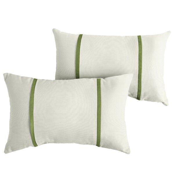 Flemingdon Indoor/Outdoor Sunbrella Lumbar Pillow (Set of 2) by Charlton Home