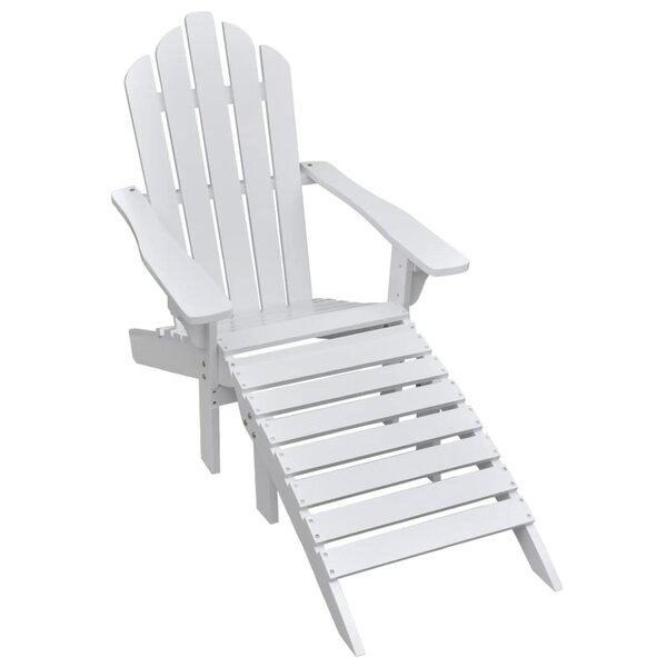 Elderton Garden Adirondack Chair with Ottoman by Highland Dunes Highland Dunes