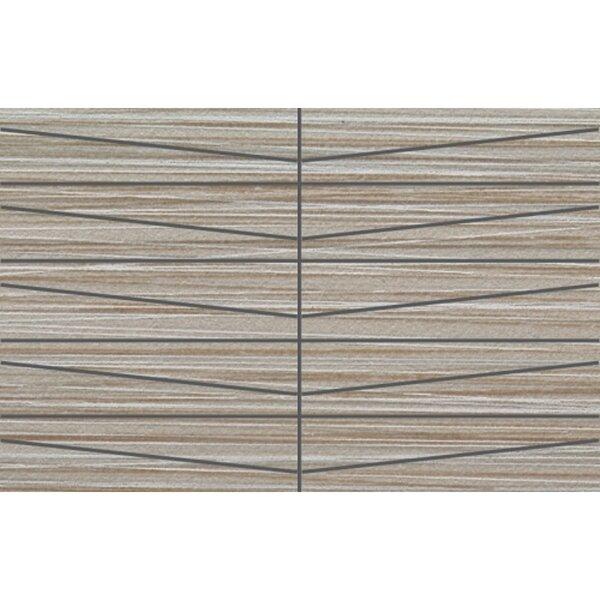 Bamboo Oblong 12 x 24 Porcelain Mosaic Tile in Gris Linen by Travis Tile Sales