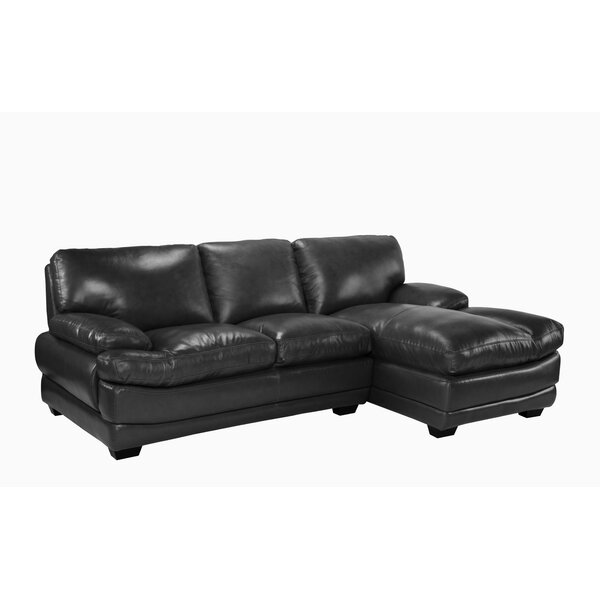 Delphine Leather Sectional by Red Barrel Studio