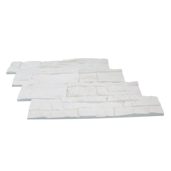 Odyssee Random Sized Manufactured Stone Veneer Wall Tile in Creme (Set of 8) by Stone Design