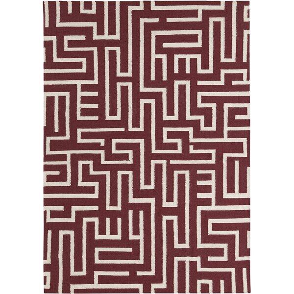 Casas Wool Geometric Rug by Ivy Bronx