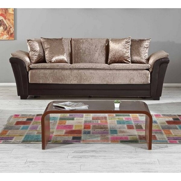 Safari Convertible Sofa Sleeper, Dropp Brown By Rosdorf Park