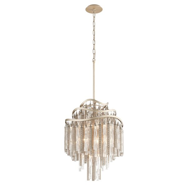 Chimera 7-Light Shaded Tiered Chandelier By Corbett Lighting