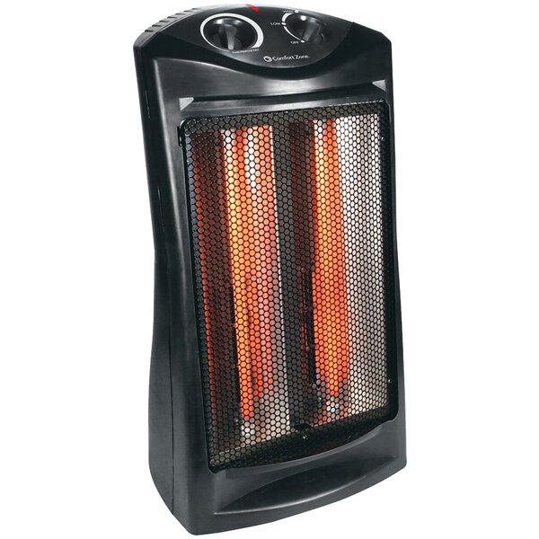 1,500 Watt Electric Radiant Tower Heater By Comfort Zone