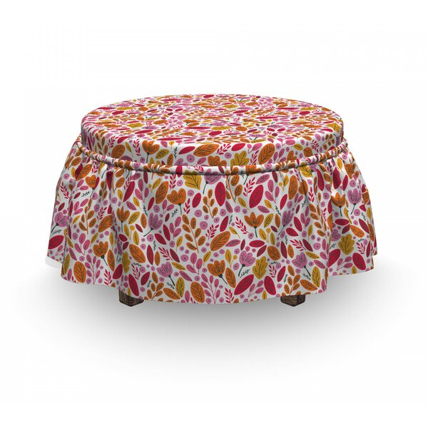 Foliage Ottoman Slipcover (Set Of 2) By East Urban Home