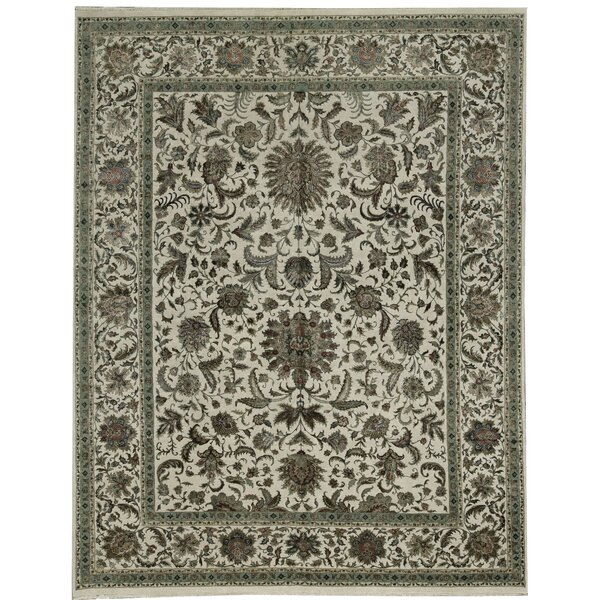 One-of-a-Kind Chantel Hand-Knotted Gray/Ivory 11'9 x 14'10 Area Rug