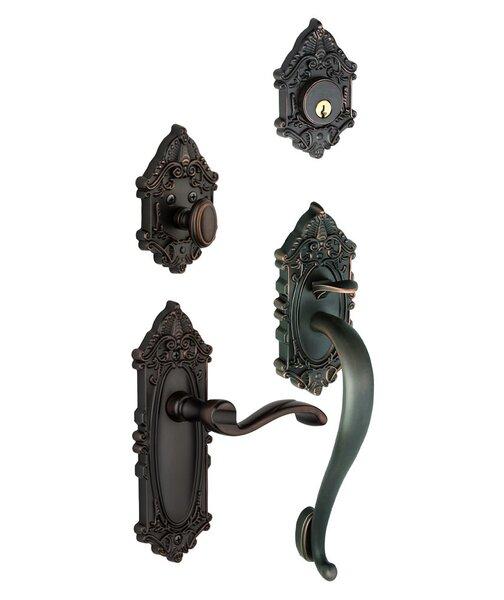 Grande Victorian S-Grip Left Hand Door Lever by Grandeur