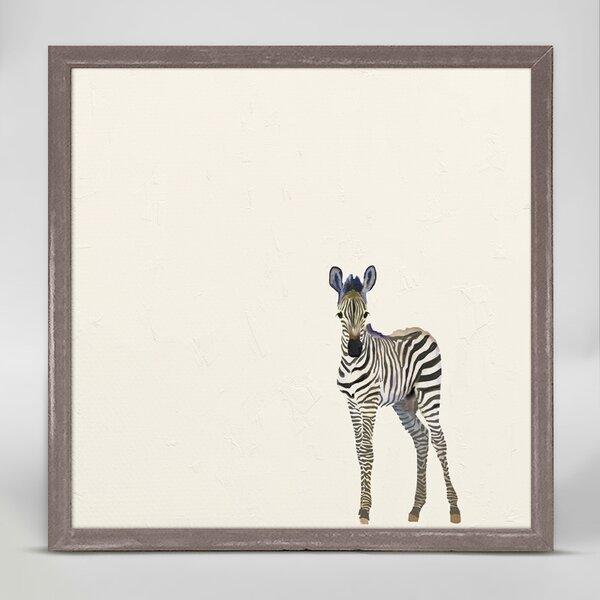 Darrick Zebra Framed Canvas Art by Harriet Bee