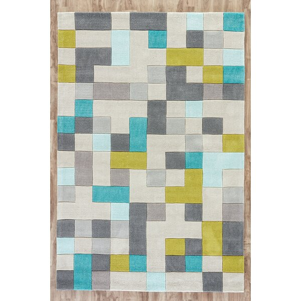 Baney Hand Tufted Gray/Blue Area Rug by Mercury Row