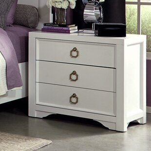 Budget Furiani 3 Drawer Nightstand by Donny Osmond Home