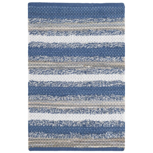 Monaca Hand-Woven Blue/Gray Area Rug by Gracie Oaks