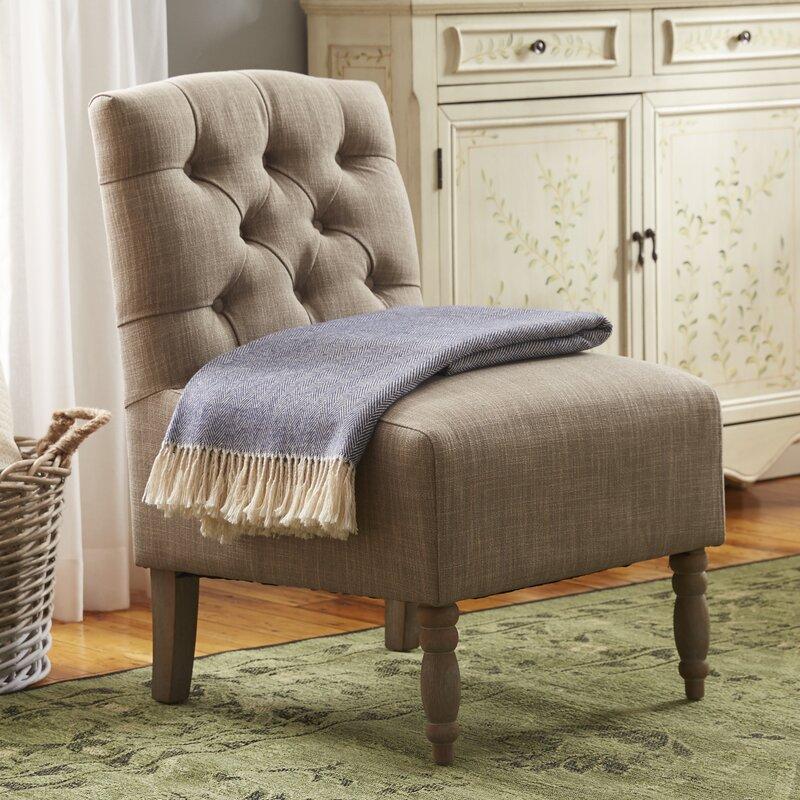 Roland Tufted Slipper Chair