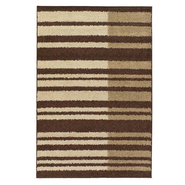 Tyris Brown/Tan Stripes Area Rug by Latitude Run