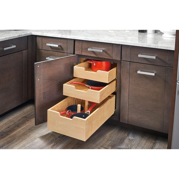 Wood Pilaster System Pull Out Drawer by Rev-A-Shelf