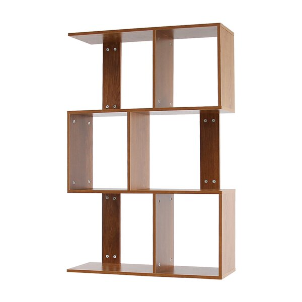 Severt 3 Tier Shelves Display Geometric Bookcase By Wrought Studio