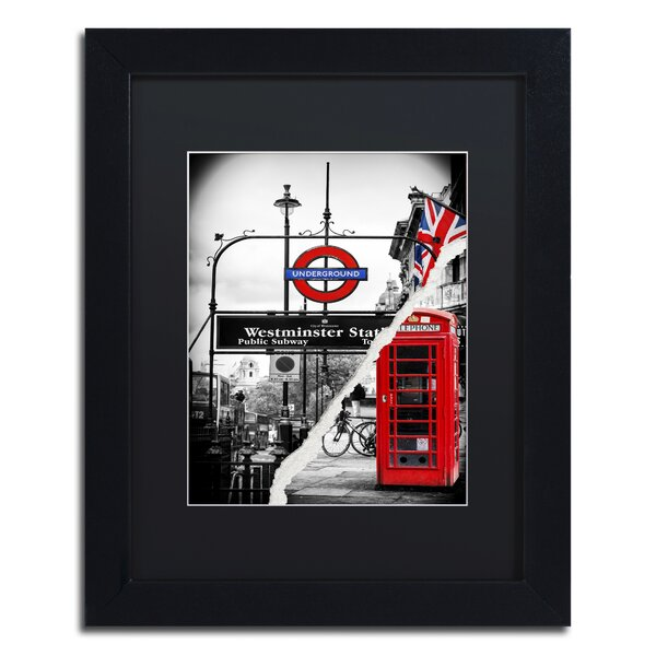 Westminster Station by Philippe Hugonnard Framed Photographic Print by Trademark Fine Art