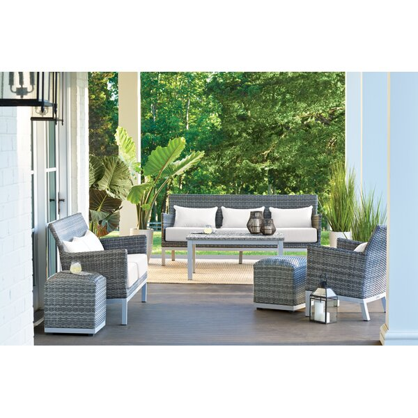 Lovejoy 6 Piece Conversation Set with Cushions by Bungalow Rose