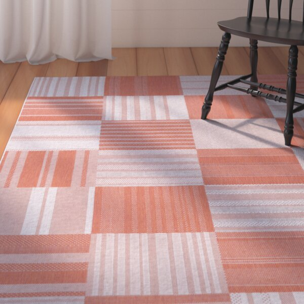 Marche Pumpkin/Ivory Indoor/Outdoor Area Rug by August Grove