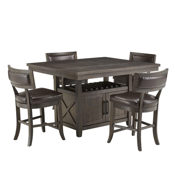 Jaydyn 5 Piece Counter Height Extendable Dining Set By Kingstown Home