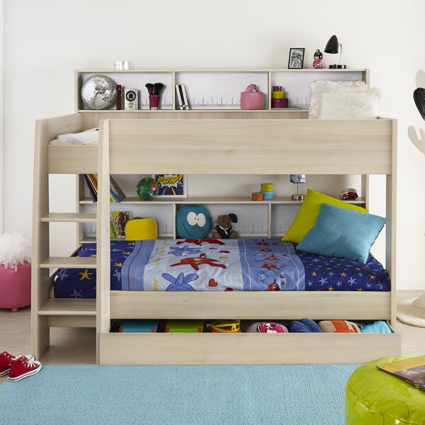 Demeter Twin over Twin Bed with Bookcase by Zoomie Kids