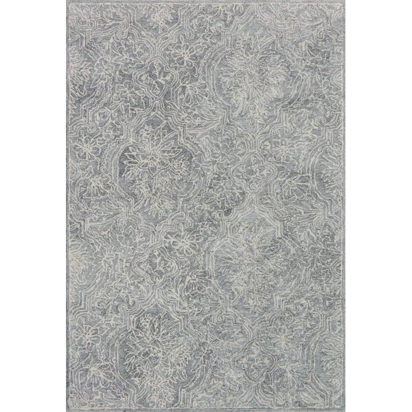 Firger Hand-Tufted Silver Area Rug by Ebern Designs