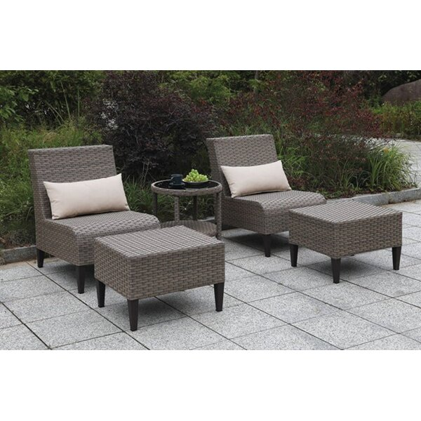 Nietos 5 Piece Seating Group with Cushions by Brayden Studio