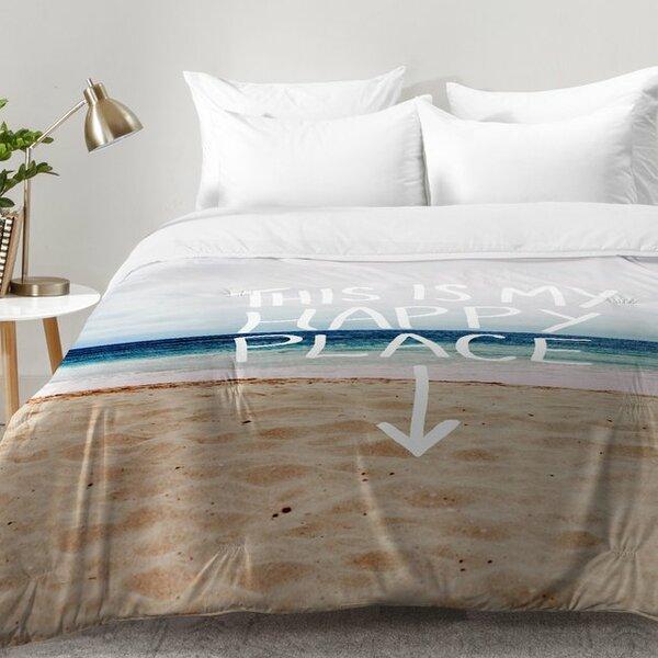 . East Urban Home Happy Place X Beach Comforter Set   Reviews   Wayfair