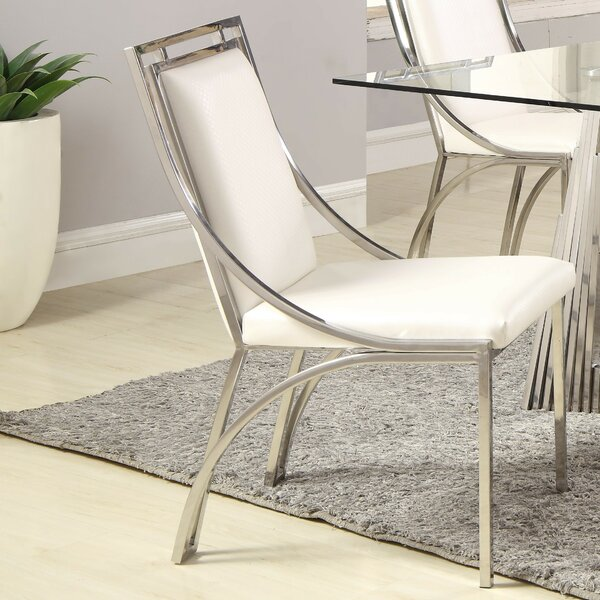 Maribel Upholstered Metal Side Chair (Set Of 2) By Orren Ellis