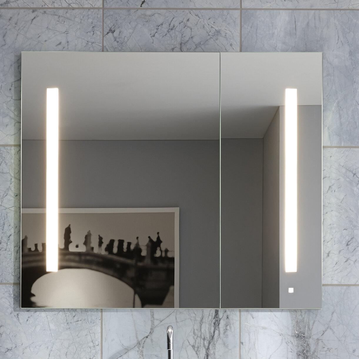 Ac3630d4p2la Aio 35 25 X 30 Recessed Medicine Cabinet With Lighting