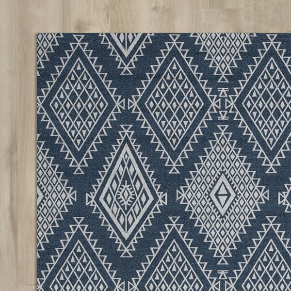 Tsukiji Blue Area Rug by Bungalow Rose