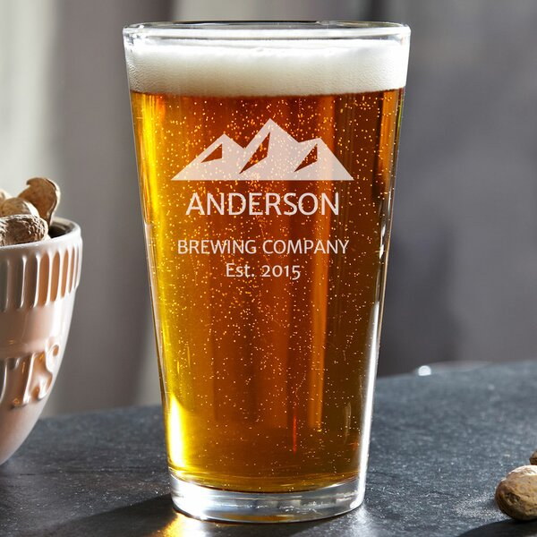 Rocky Mountain Custom 16 oz. Glass Pint Glass by Home Wet Bar