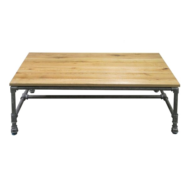 Lockheart Sturdy Classic Metal/Wood Coffee Table by 17 Stories