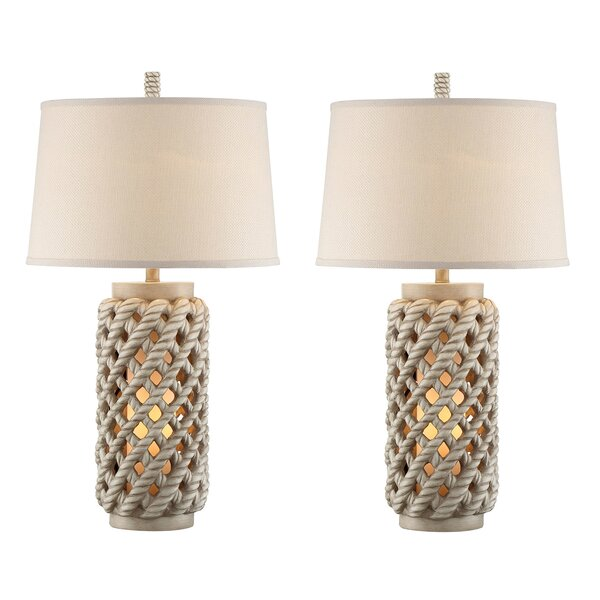 Camp Lantern 32 Table Lamp (Set of 2) by Rosecliff Heights